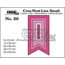 Kovinske šablone - Crea-Nest-Lies Small Dies no.20 - Fishtail Banner with Dots