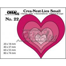Kovinske šablone - Crea-Nest-Lies Small Dies no.22 - Hearts