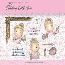 Creating Collection Stamp Sheet (10 štampiljk) - Magnolia