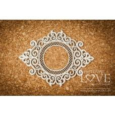 Round frame with ornaments - Vintage Ornaments - Laserowe LOVE