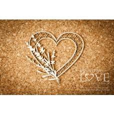 Heart with lavender - Sweet Lavender - Laserowe LOVE