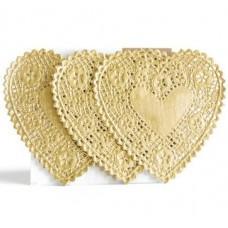 Papirnati prtički - Heart 4'' - Gold