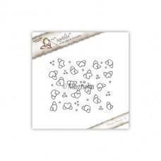 Štampiljka - Heart Flower Background - Magnolia