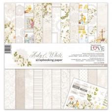 Set papirjev - Holy & White - 30,5 x 30,5 cm - Laserowe LOVE