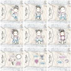 Hugs & Kisses - Celotna Kolekcija - Štampiljke (9 kompletov štampiljk) - Magnolia