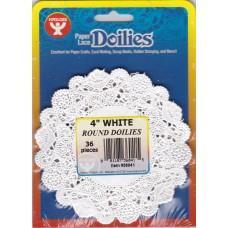 Papirnati prtički - Round 4'' - White
