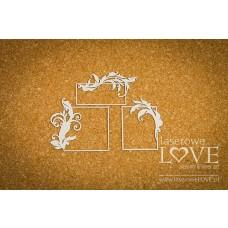 Rectangular frames - Holy & White - Laserowe LOVE