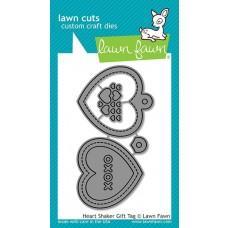 Kovinske šablone - Lawn Cuts - Heart Shaker Gift Tag - Lawn Fawn