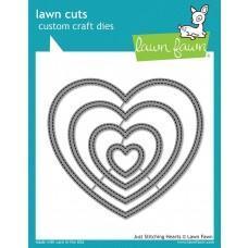 Kovinske šablone - Lawn Cuts - Just Stitching Hearts - Lawn Fawn