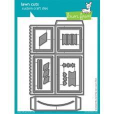 Kovinske šablone - Lawn Cuts - Scalloped Box Card Pop-Up - Lawn Fawn