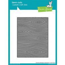 Kovinske šablone - Lawn Cuts - Stitched Woodgrain Backdrop - Lawn Fawn