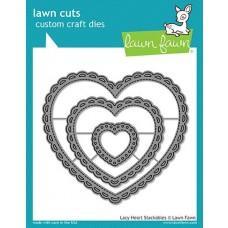 Kovinske šablone - Lawn Cuts - Lacy Heart Stackables  - Lawn Fawn
