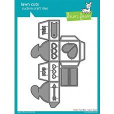 Kovinske šablone - Lawn Cuts - Heart Treat Box - Lawn Fawn