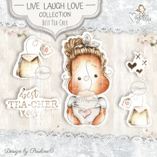 Best Tea-Cher Ever Art Stamp Kit - Magnolia