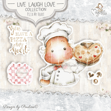 Pizza My Heart Art Stamp Kit - Magnolia