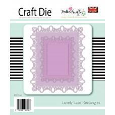 Kovinska šablona - Lovely Lace Rectangles - Polkadoodles