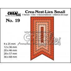 Kovinske šablone - Crea-Nest-Lies Small Dies no.19 - Fishtail Banner with Stitch