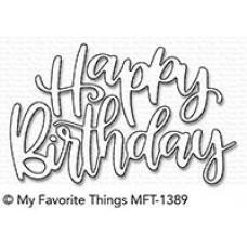 Kovinska šablona - Happy Birthday Script - My Favorite Things