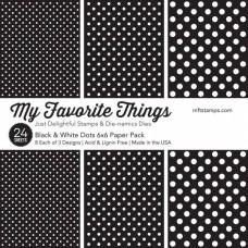 Blok Papirjev - Black & White Dots - 6x6 - My Favorite Things