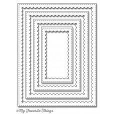 Kovinska šablona - Stitched Rectangle Scallop Frames - My Favorite Things