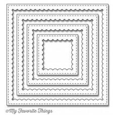 Kovinska šablona - Stitched Square Scallop Frames - My Favorite Things