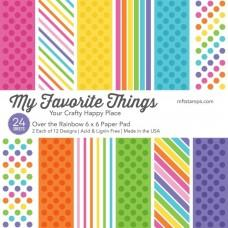 Blok Papirjev - Over The Rainbow - 6x6 - My Favorite Things