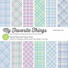 Blok Papirjev - Petite Plaid - 6x6 - My Favorite Things