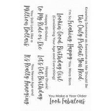 Set štampiljk - Sassy Pants Birthday Greetings 2 - My Favorite Things