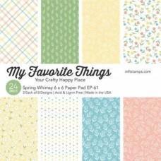 Blok Papirjev - Spring Whimsy - 6x6 - My Favorite Things
