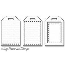 Kovinska šablona - Stitched Tiny Tags - My Favorite Things