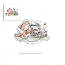 Štampiljka - Horace & Boo in the Garden - Polkadoodles