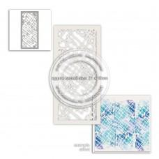 Plastična šablona - Distressed Trellis Stencil - Polkadoodles