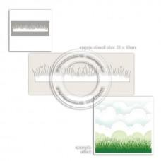 Plastična šablona - Grass Lawn Stencil - Polkadoodles