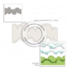 Plastična šablona - Cloud Landscape Stencil - Polkadoodles