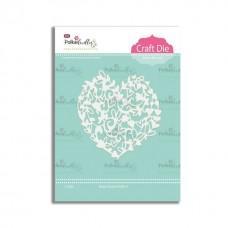 Kovinska šablona - Heart Flourish - Polkadoodles