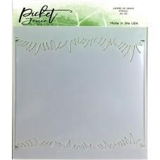 Plastična šablona - Layers of Grass - Picket Fence Studios