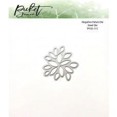 Kovinske šablone - Negative Flower Petals Die - Picket Fence Studios