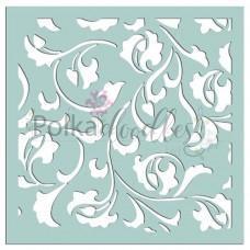 Plastična šablona - Damask Delights 6x6 Inch - Polkadoodles