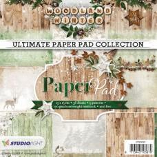 Blok Papirjev - Woodland Winter nr. 91 - 15x15cm - Studio Light