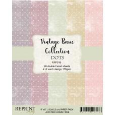 Blok Papirjev - Dots Basic - 6x6 - Reprint