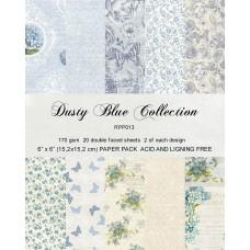 Blok Papirjev - Dusty Blue - 6x6 - Reprint