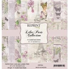 Blok Papirjev - Lilac Paris Collection - 12x12 - Reprint