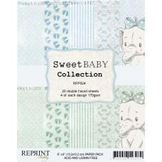 Blok Papirjev - Sweet Baby Blue - 6x6 - Reprint