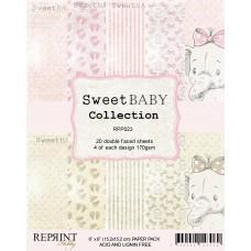 Blok Papirjev - Sweet Baby Pink - 6x6 - Reprint