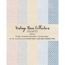 Blok Papirjev - Hearts Basic - 6x6 - Reprint