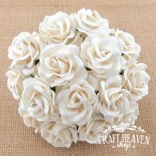 Bele Chelsea vrtnice - 35mm