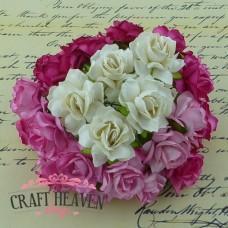Mix roza in belih divjih vrtnic - 30mm