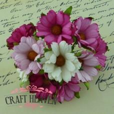 Mix roza in belih krizantem - 45mm