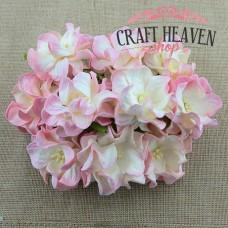 Dvobarvne gardenije - baby roza/krem - 35mm