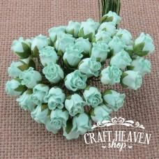 Pastelno zelene zaprte vrtnice - 10mm